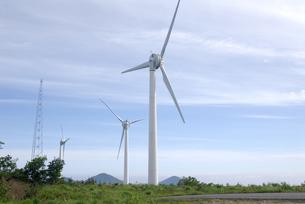 風力発電の風車の写真素材 [FYI00105925]