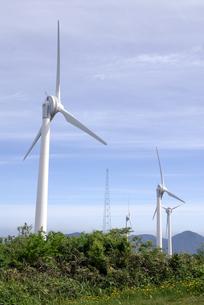 風力発電の風車の写真素材 [FYI00105926]