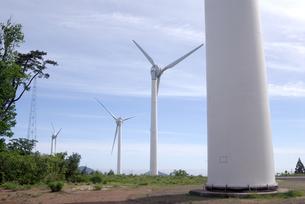 風力発電の風車の写真素材 [FYI00105937]