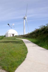 風力発電の風車の写真素材 [FYI00105941]