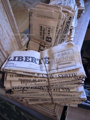 古新聞の写真素材 [FYI00106690]