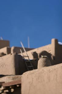 インディアンの聖地タオスプエブロの写真素材 [FYI00106725]