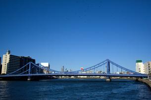 隅田川にかかる清洲橋の写真素材 [FYI00106784]