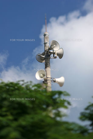 竹富島の拡声器の写真素材 [FYI00107034]