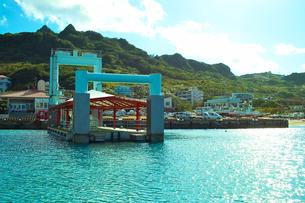 久高島の港の写真素材 [FYI00107063]