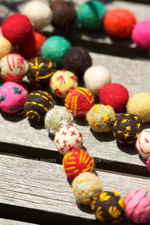 モロッコのフェルトの飾り玉の写真素材 [FYI00107215]