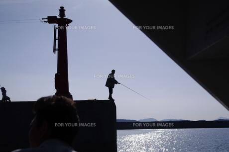 釣り人の写真素材 [FYI00107419]