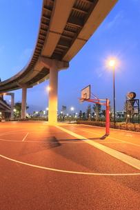 神戸震災復興記念公園(みなとのもり公園) バスケットコートの写真素材 [FYI00107869]