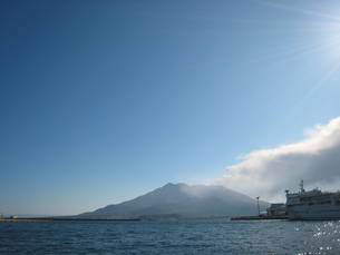 桜島と海の写真素材 [FYI00107938]