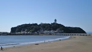 江の島片瀬東浜の写真素材 [FYI00108076]