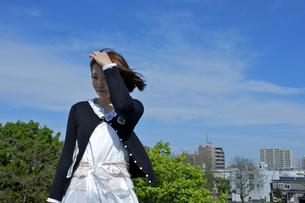 晴れた風の吹く日の写真素材 [FYI00108752]