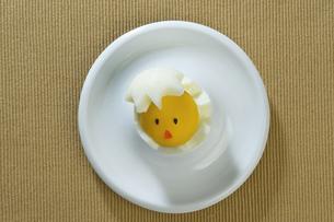 ひよこの形ののゆで卵の写真素材 [FYI00108757]