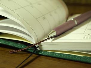 手帳とペンの写真素材 [FYI00108947]