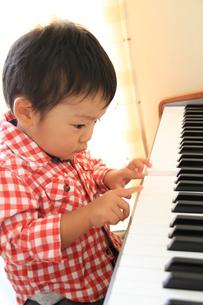 ピアノに夢中の写真素材 [FYI00109801]