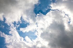 青い空と白い雲の写真素材 [FYI00110006]