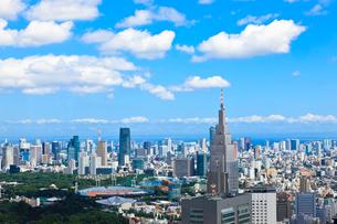 新宿から東京湾への眺望の写真素材 [FYI00110108]