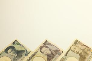 日本円のお札の写真素材 [FYI00110155]