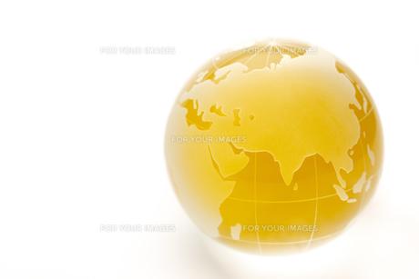 黄金色の地球の写真素材 [FYI00110193]