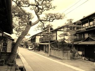 中山道塩名田宿の町並み 今昔の写真素材 [FYI00110409]