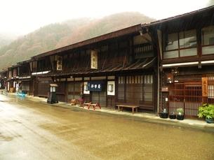 中山道奈良井宿の町並み その7の写真素材 [FYI00110435]