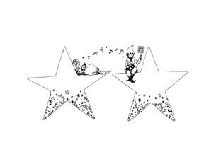 ふたつ星の写真素材 [FYI00110521]
