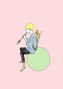 笛を吹く男の写真素材 [FYI00110556]