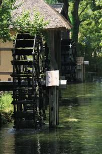 水車小屋と清流の素材 [FYI00110597]