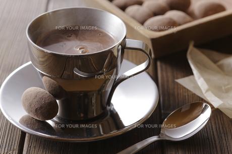 ココアとチョコレートの写真素材 [FYI00111288]