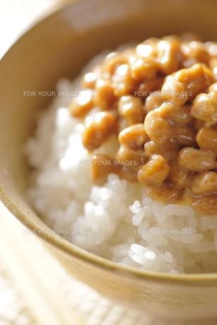 納豆ご飯イメージの写真素材 [FYI00111317]