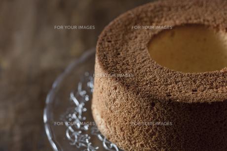 シフォンケーキのスポンジの写真素材 [FYI00111412]