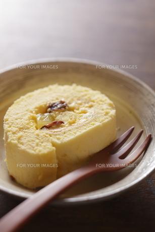 手作りロールケーキの写真素材 [FYI00111419]