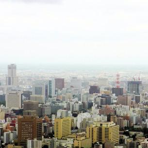 札幌の中心部の街並の写真素材 [FYI00112739]