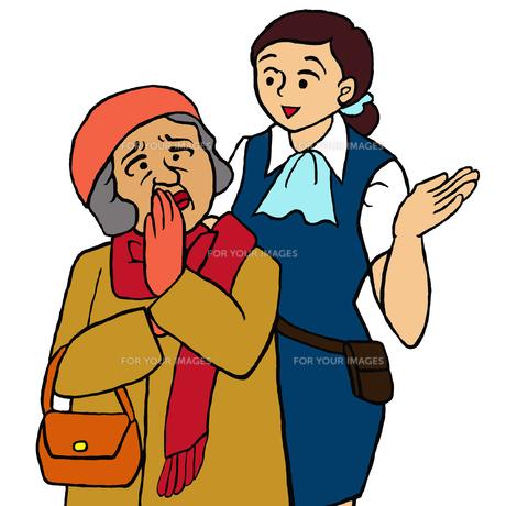 何を買うかを忘れてしまいうろたえる高齢女性(軽度認知障害(MCI))の写真素材 [FYI00112858]