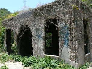 大久野島の廃墟の写真素材 [FYI00112989]