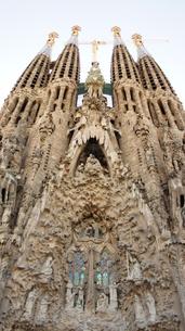 スペイン/バルセロナ サグラダ・ファミリア教会の写真素材 [FYI00113097]