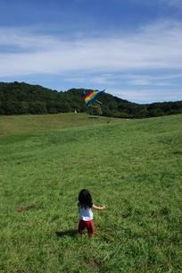 凧揚する子供の写真素材 [FYI00113606]