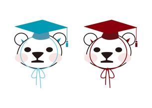 博士帽をかぶったクマの子供の素材 [FYI00113831]
