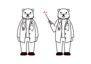 シロクマの医者の素材 [FYI00113833]