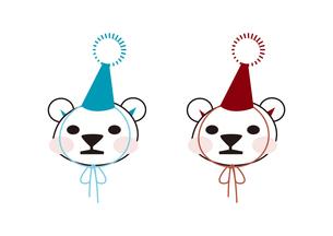三角帽をかぶったクマの子供の素材 [FYI00113838]
