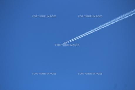青空と飛行機の素材 [FYI00113976]
