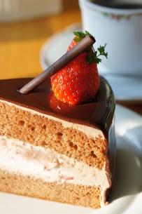 イチゴのケーキの写真素材 [FYI00114281]