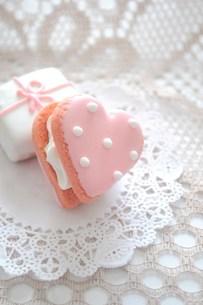 ハートのクッキーの写真素材 [FYI00114455]