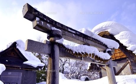 白川郷秋葉神社の写真素材 [FYI00114472]