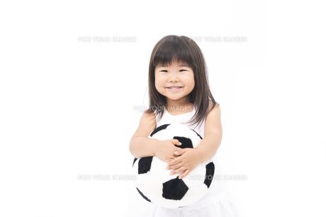 女の子がサッカー応援の写真素材 [FYI00115248]