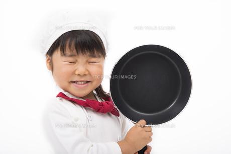 コック姿の女の子の写真素材 [FYI00115268]