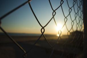 浜辺の夕日の素材 [FYI00115351]