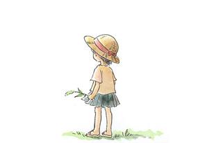 麦わら帽子の女の子の素材 [FYI00116736]