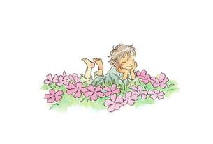 花畑の中の小人の素材 [FYI00116751]