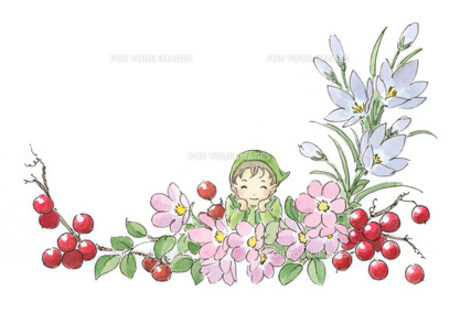 花の中で笑う小人の素材 [FYI00116754]