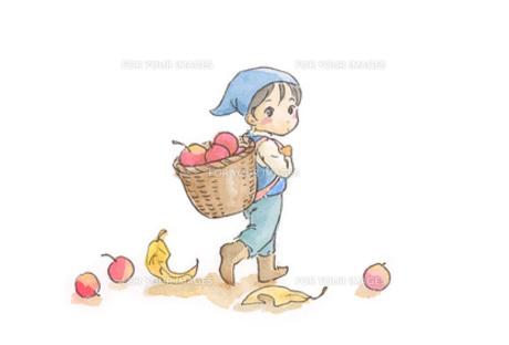 赤い実を背負う小人の素材 [FYI00116757]